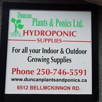 Duncan Plants & Ponics logo
