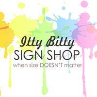 Itty Bitty Sign Shop logo