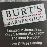 Burt's Barbershop logo