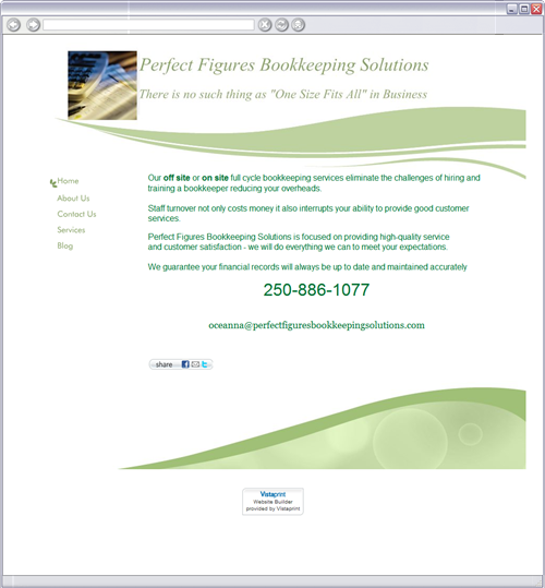 Perfect Figures Bookkeeping Solutions logo