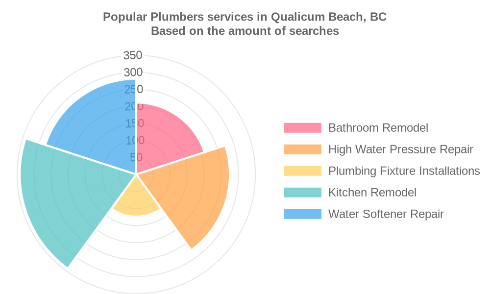 Popular services provided by plumbers in Qualicum Beach, BC
