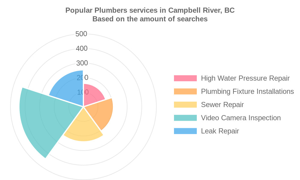 Popular services provided by plumbers in Campbell River, BC