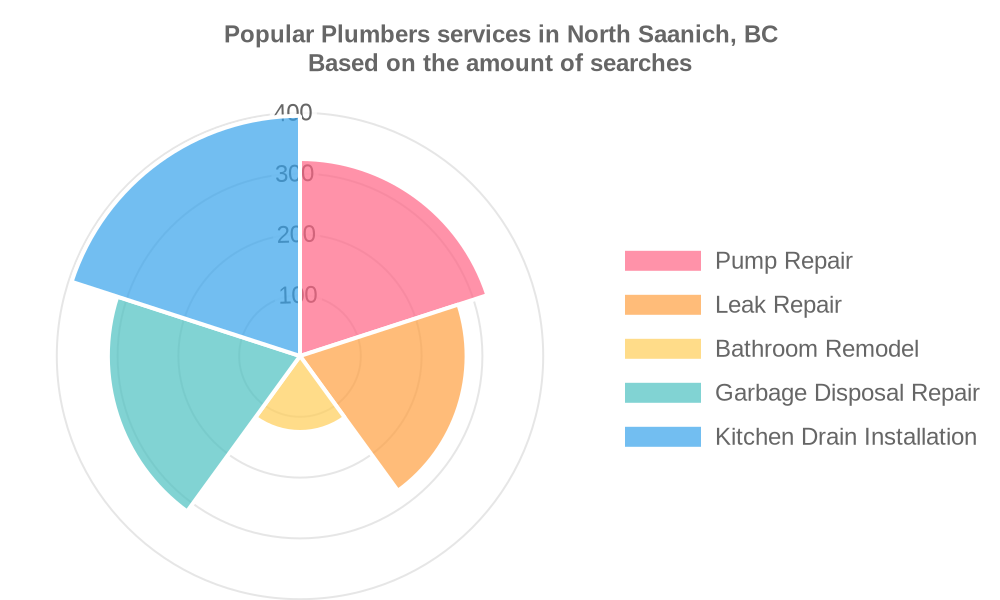 Popular services provided by plumbers in North Saanich, BC