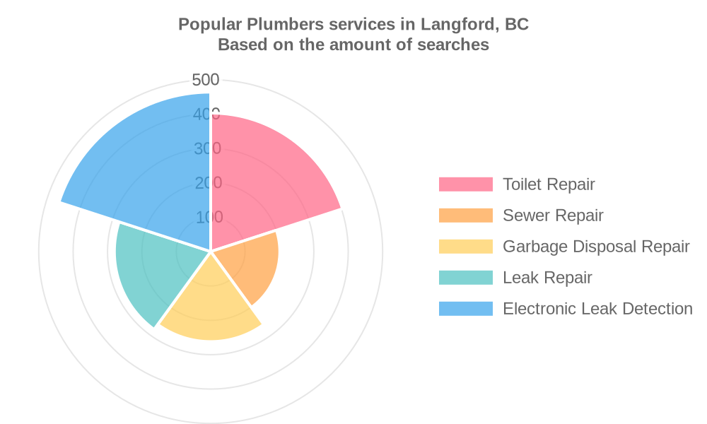 Popular services provided by plumbers in Langford, BC