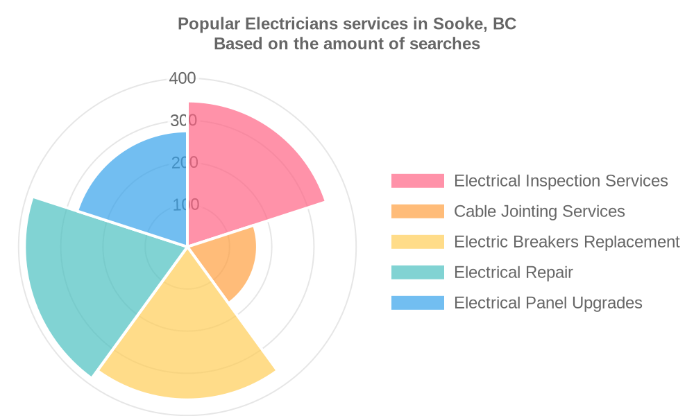Popular services provided by electricians in Sooke, BC