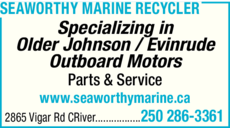 Print Ad of Seaworthy Marine Recycler