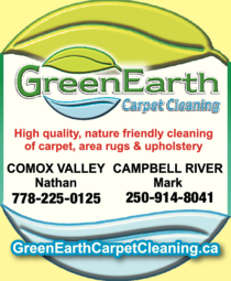 Yellow Pages Ad of Green Earth Carpet Cleaning