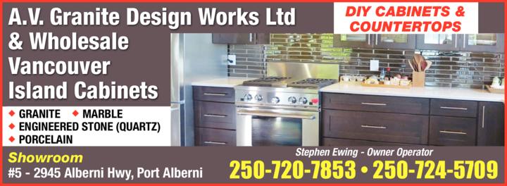 Print Ad of A V Granite Design Works Ltd