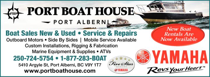 Print Ad of Port Boat House Port Alberni