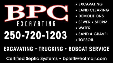 Print Ad of Bpc Excavating