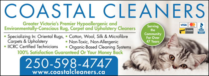 Yellow Pages Ad of Coastal Cleaners