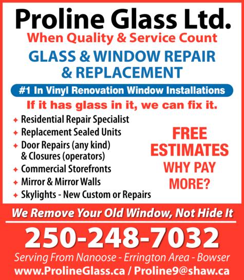 Print Ad of Proline Glass Ltd
