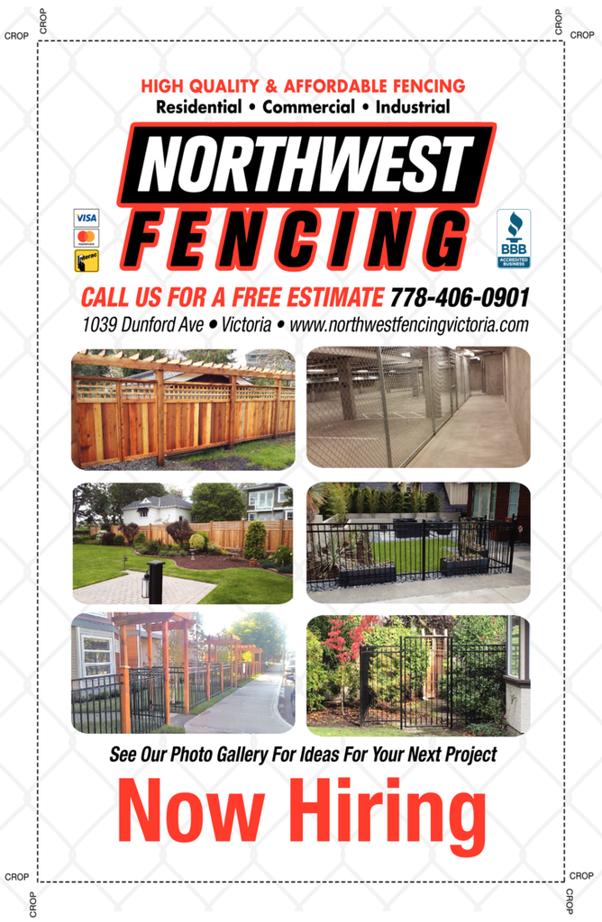Print Ad of Northwest Fencing Ltd