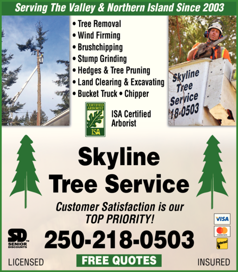 Print Ad of Skyline Tree Service