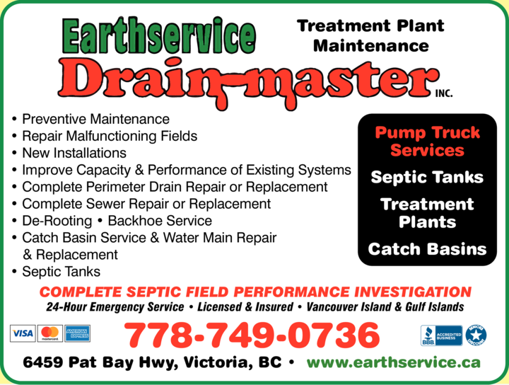 Print Ad of Earthservice Drain-Master Inc