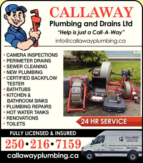Print Ad of Callaway Plumbing & Drains Ltd