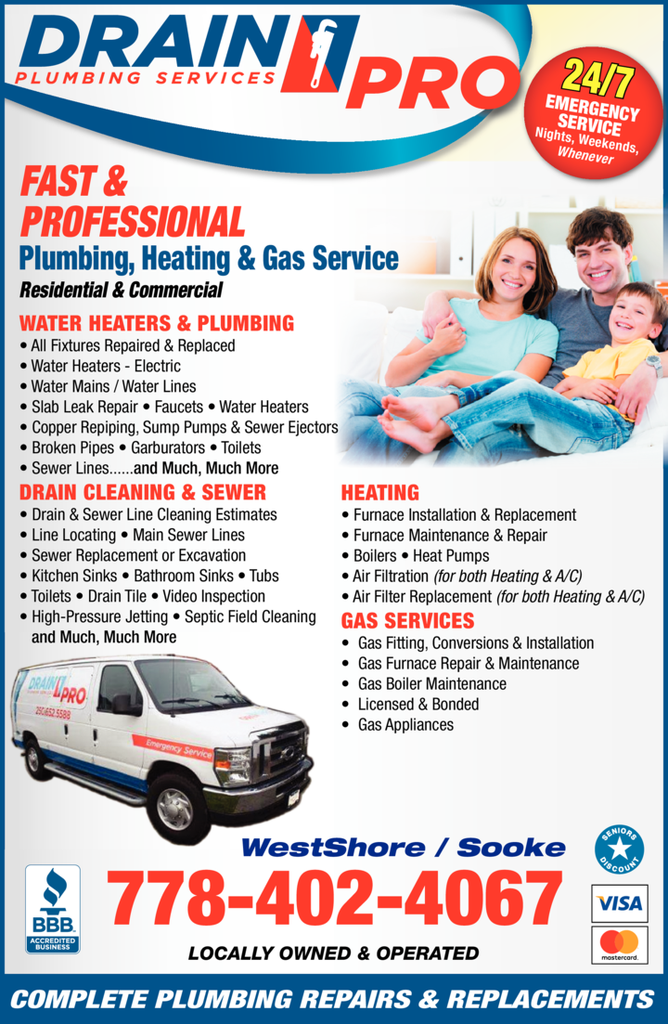 Yellow Pages Ad of Drain Pro Plumbing Services