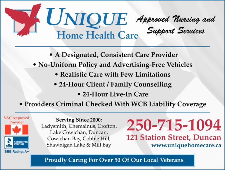 Print Ad of Unique Home Health Care