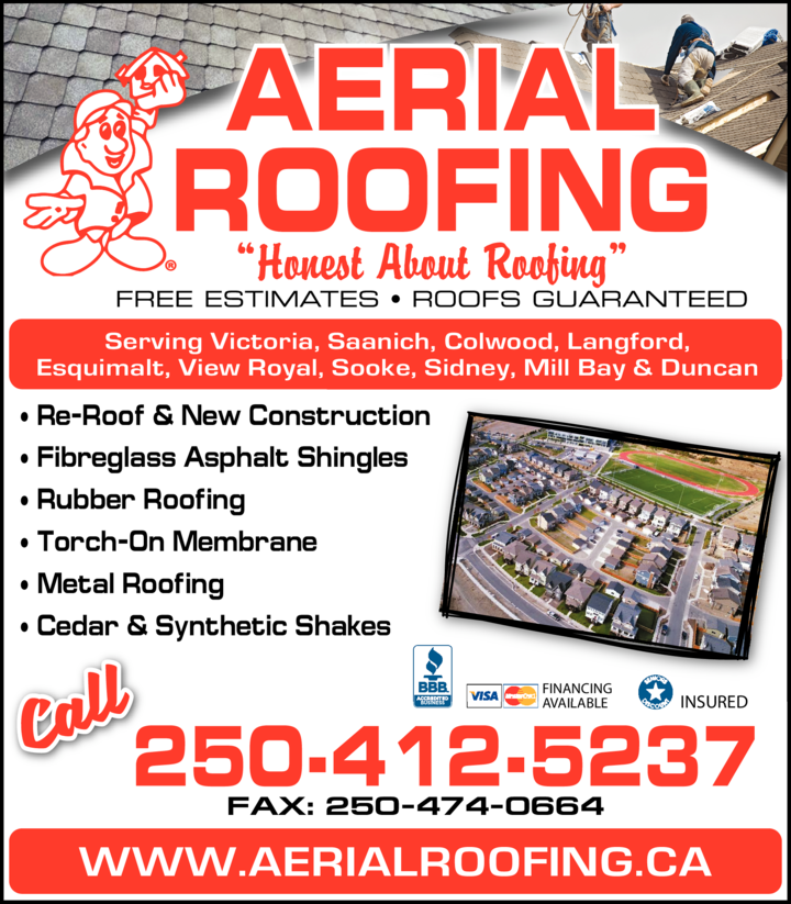 Yellow Pages Ad of Aerial Roofing