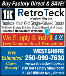 Print Ad of Retroteck Window Mfg Ltd