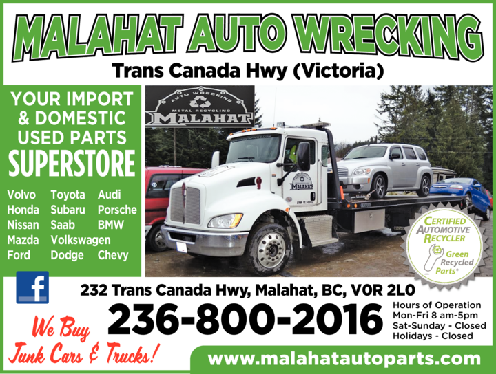 Yellow Pages Ad of Malahat Auto Wrecking