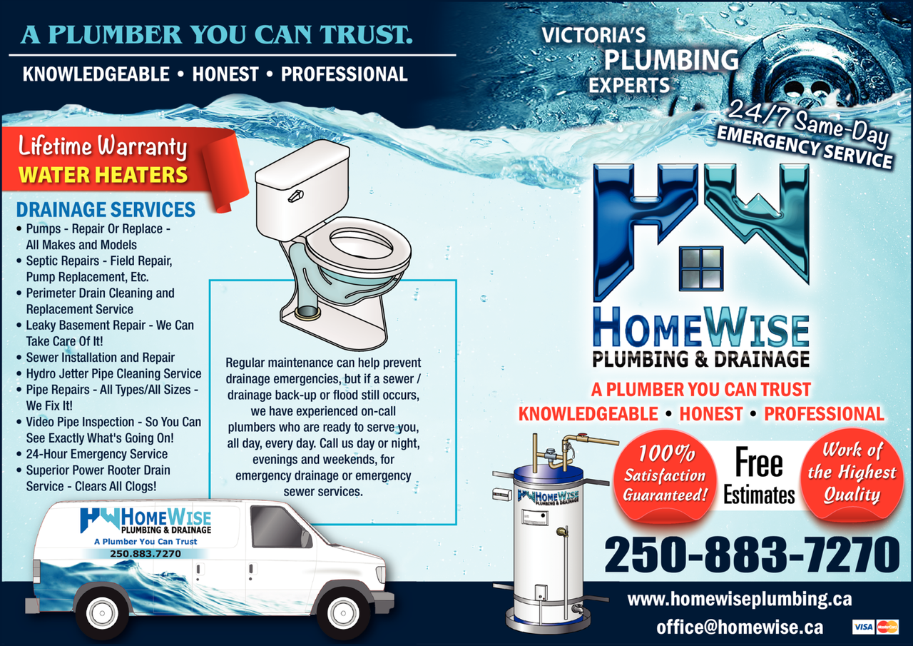 Yellow Pages Ad of Homewise Plumbing & Drainage