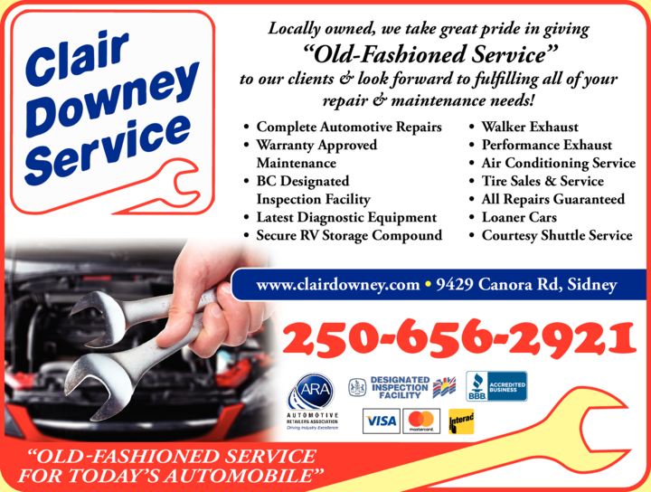 Yellow Pages Ad of Clair Downey Service
