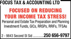 Print Ad of Focus Tax & Accounting Ltd