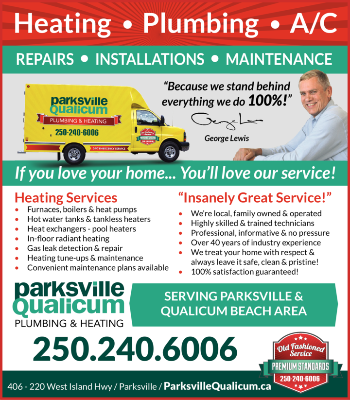 Print Ad of Parksville Qualicum Plumbing & Heating