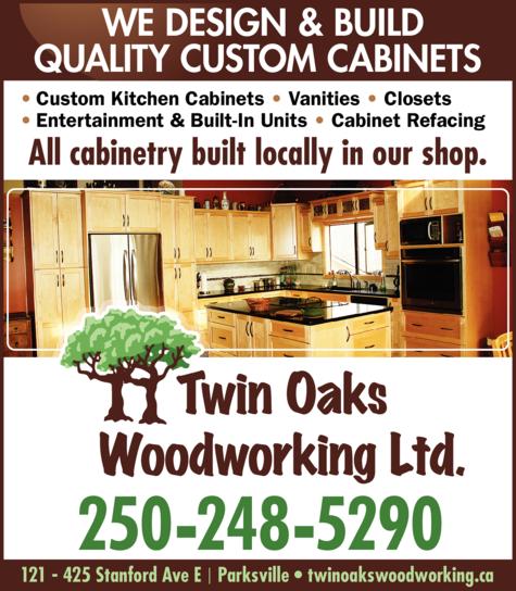 Print Ad of Twin Oaks Woodworking Ltd