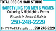 Print Ad of Total Design Hair Studio