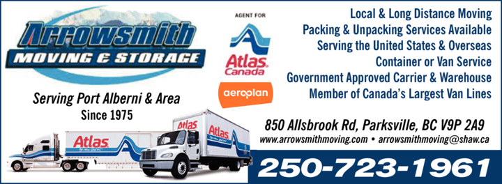 Print Ad of Arrowsmith Moving & Storage Ltd