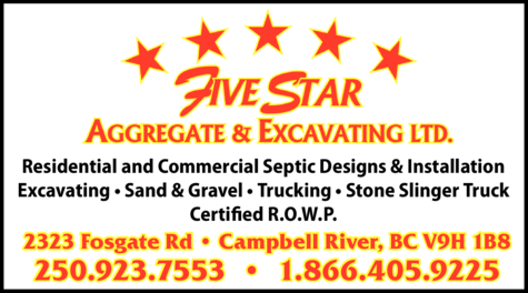 Print Ad of Five Star Aggregate & Excavating Ltd