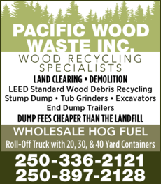 Print Ad of Pacific Wood Waste Inc