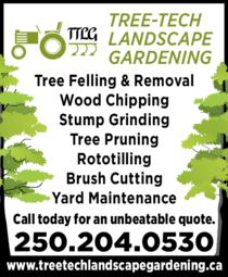 Print Ad of Tree-Tech Landscape Gardening