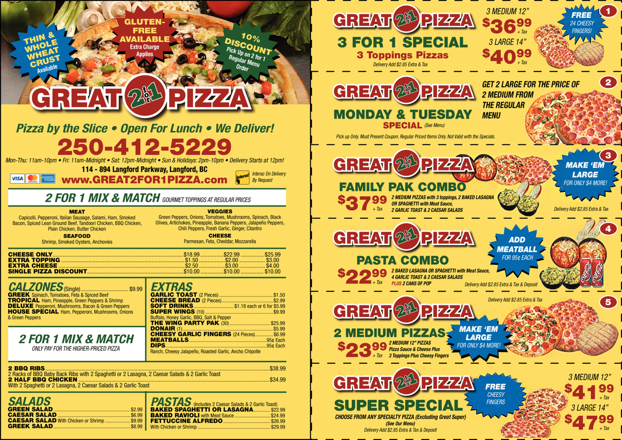 Print Ad of Great 2 For 1 Pizza