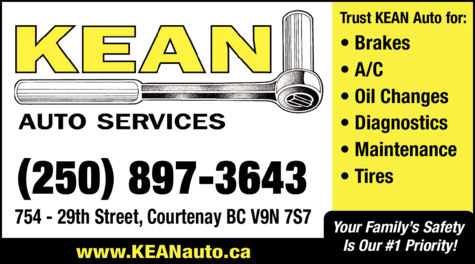 Yellow Pages Ad of Kean Auto Services