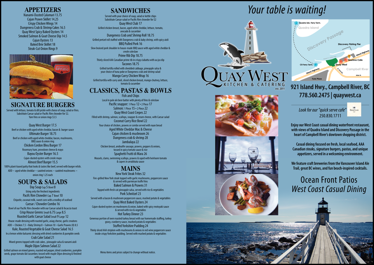 Print Ad of Quay West Waterfront Restaurant
