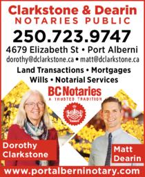 Print Ad of Clarkstone & Dearin Notaries Public