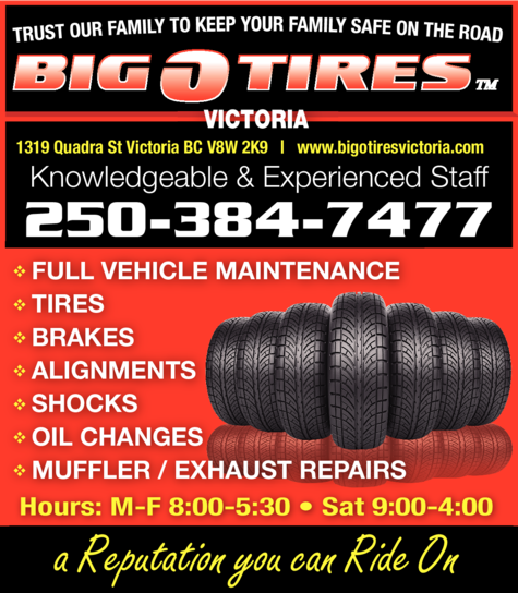 Yellow Pages Ad of Big O Tires Victoria