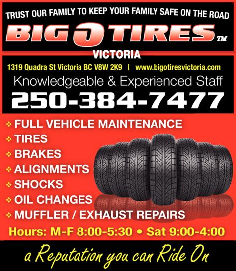 Print Ad of Big O Tires Victoria