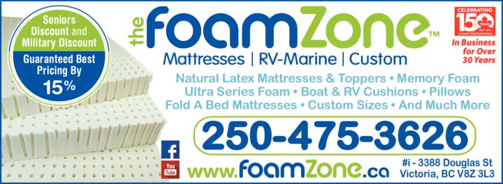 Print Ad of The Foam Zone