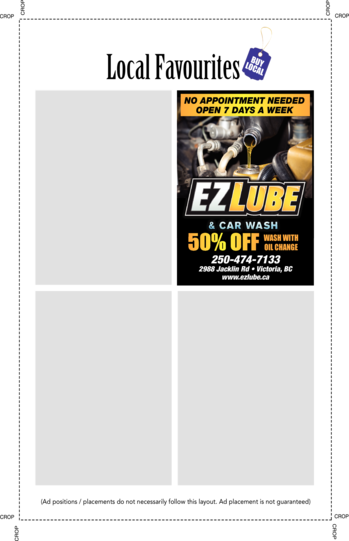 Yellow Pages Ad of Ez Lube & Car Wash