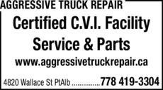 Print Ad of Aggressive Truck Repair