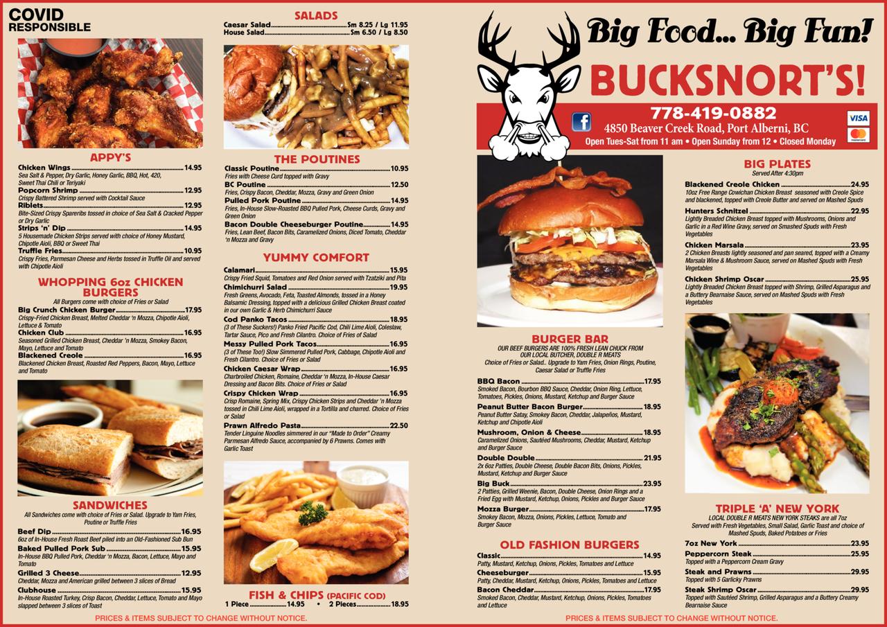 Print Ad of Bucksnort's Bar & Grill