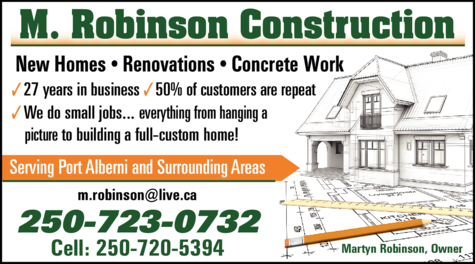 Print Ad of M Robinson Construction