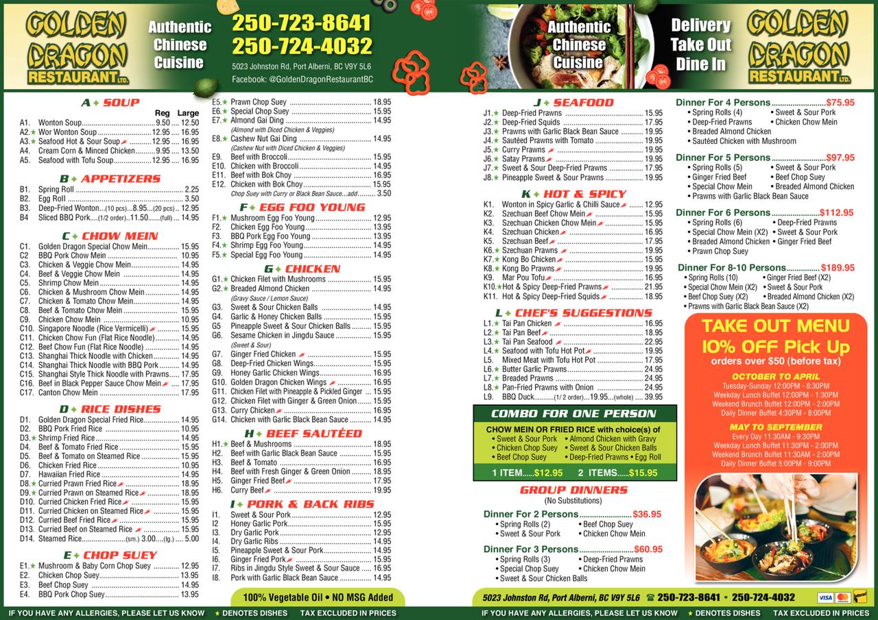 Print Ad of Golden Dragon Restaurant