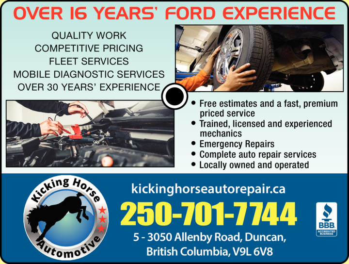 Print Ad of Kicking Horse Automotive Services