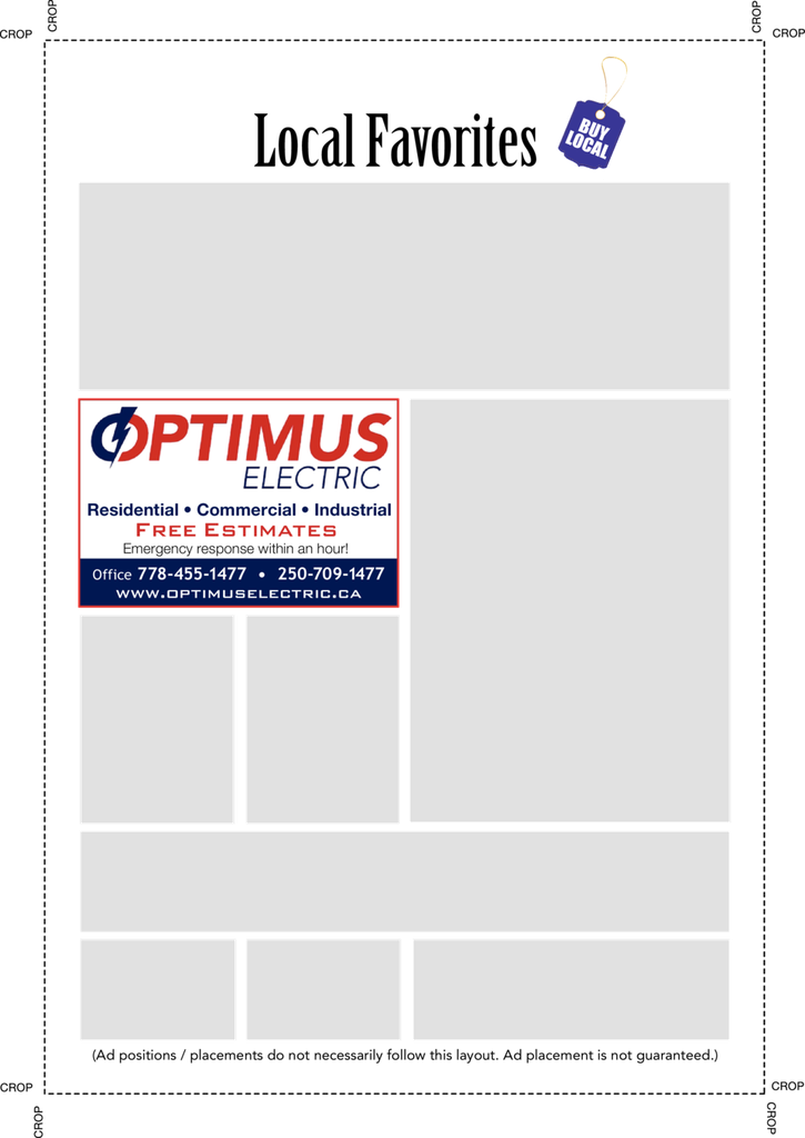 Yellow Pages Ad of Optimus Electric Inc