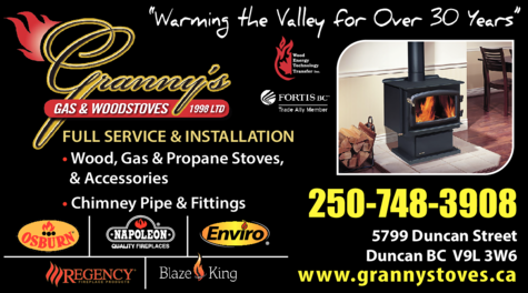 Yellow Pages Ad of Granny's Gas & Woodstoves